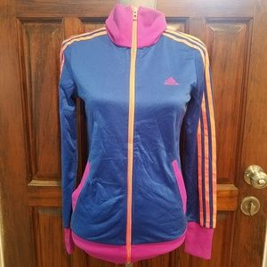 Adidas full zipped jacket